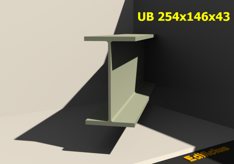 3D Profiles - UB 254x146x43 - ACCA software