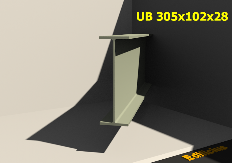 3D Profile - UB 305x102x28 - ACCA software