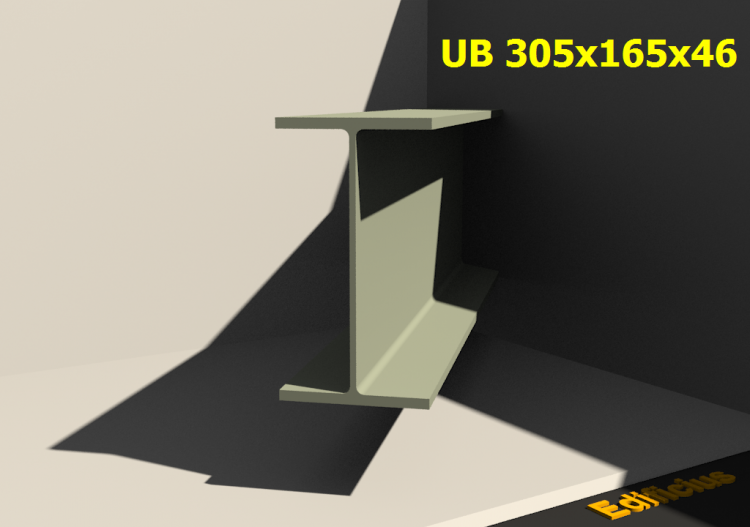 3D Profiles - UB 305x165x46 - ACCA software