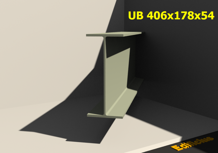 3D Profiles - UB 406x178x54 - ACCA software