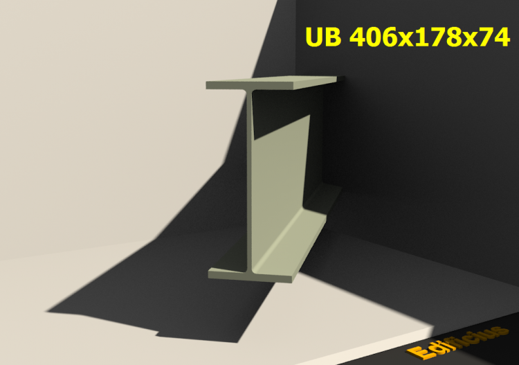 3D Profile - UB 406x178x74 - ACCA software