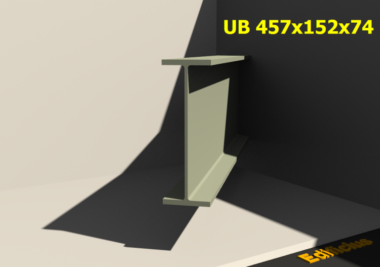 3D Profile - UB 457x152x74 - ACCA software
