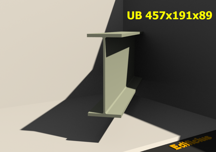 3D Profiles - UB 457x191x89 - ACCA software