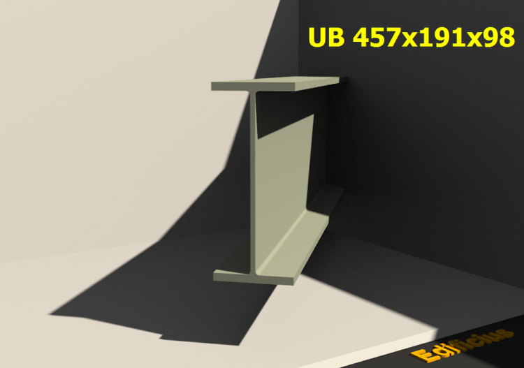 3D Profiles - UB 457x191x98 - ACCA software