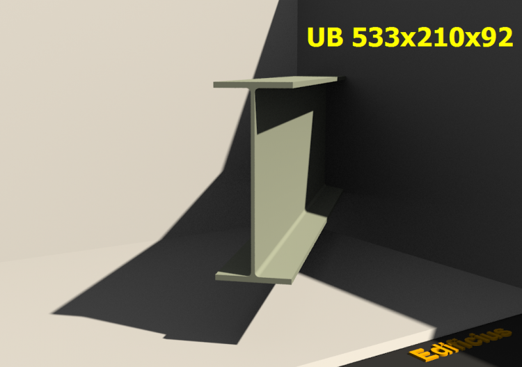 3D Profile - UB 533x210x92 - ACCA software