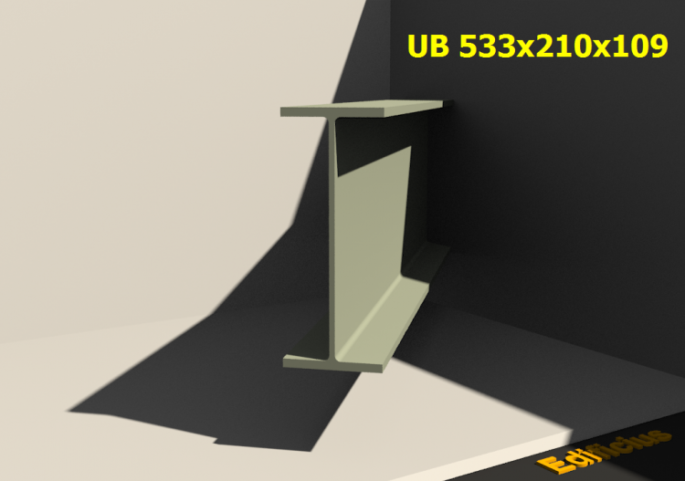 3D Profile - UB 533x210x109 - ACCA software