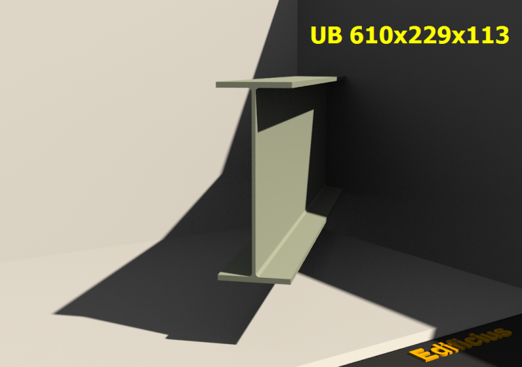 3D Profiles - UB 610x229x113 - ACCA software