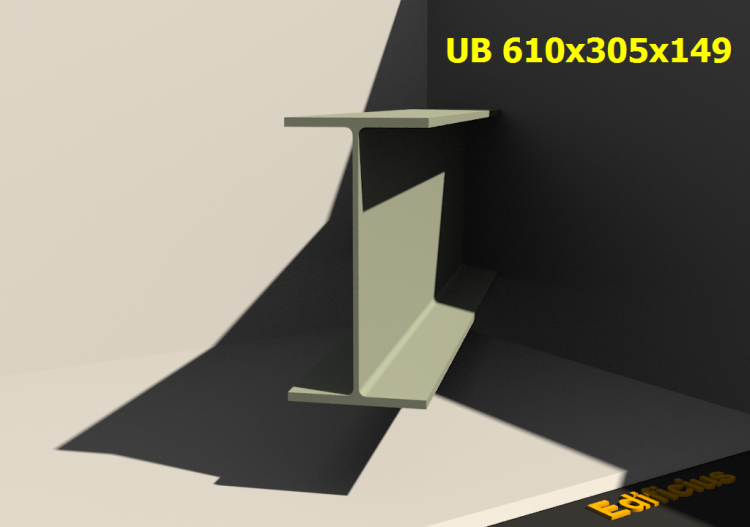 3D Profile - UB 610x305x149 - ACCA software