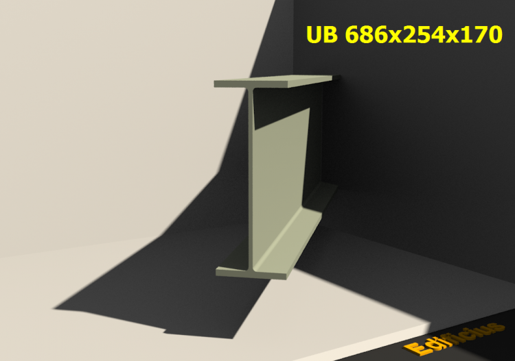 3D Profile - UB 686x254x170 - ACCA software