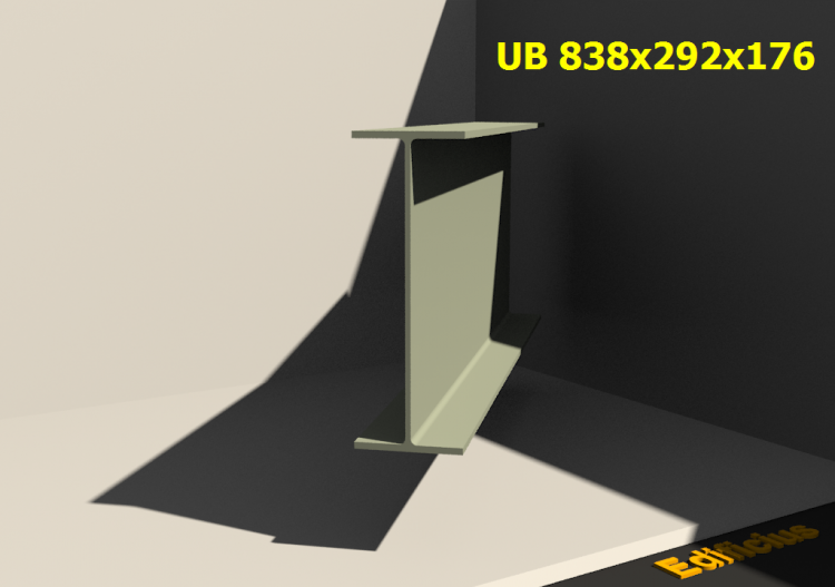 3D Profiles - UB 838x292x176 - ACCA software