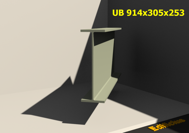 3D Profile - UB 914x305x253 - ACCA software