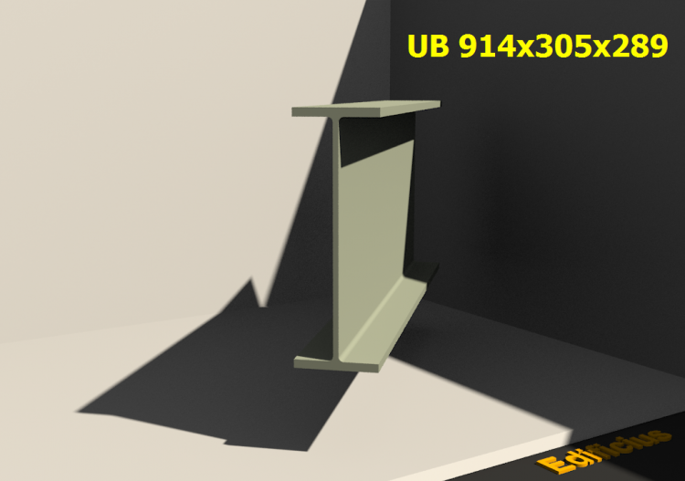 3D Profiles - UB 914x305x289 - ACCA software