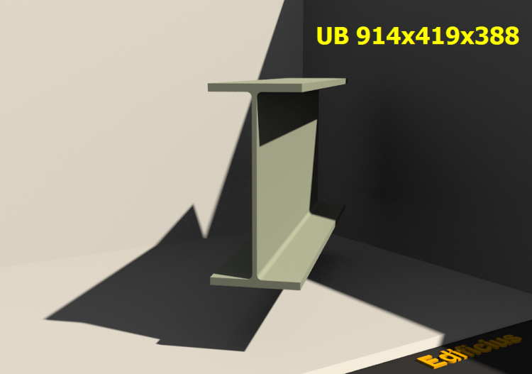 3D Profiles - UB 914x419x388 - ACCA software