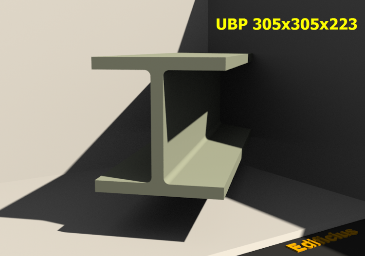 3D Profile - UBP 305x305x223 - ACCA software