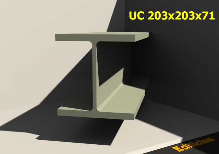 Perfilados 3D - UC 203x203x71 - ACCA software