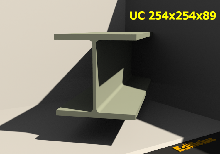 3D Profiles - UC 254x254x89 - ACCA software
