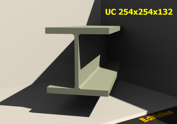 3D Profiles - UC 254x254x132 - ACCA software
