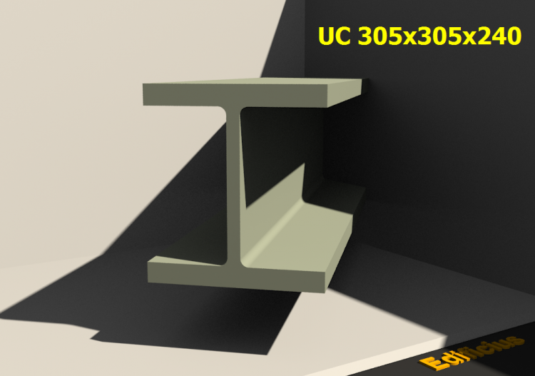 3D Profiles - UC 305x305x240 - ACCA software