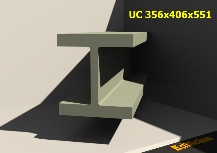 3D Profile - UC 356x406x551 - ACCA software