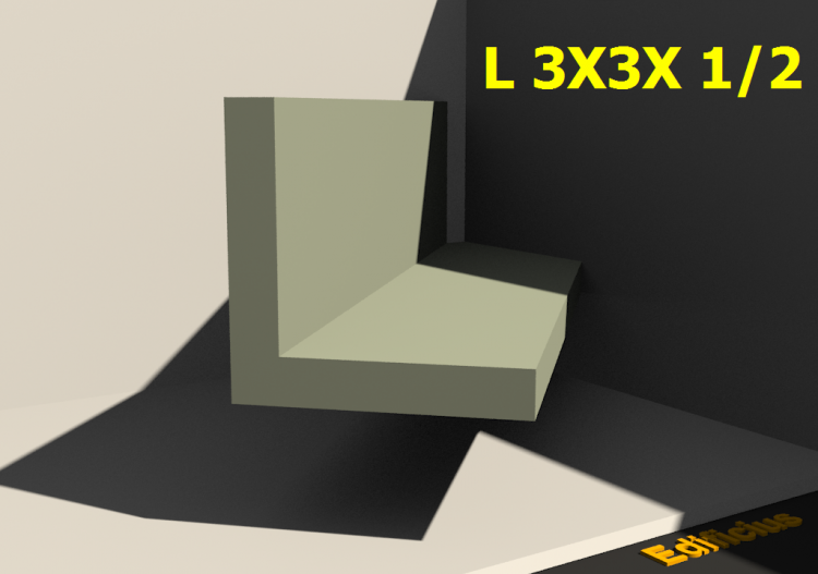 3D Profile - L 3X3X 1/2 - ACCA software
