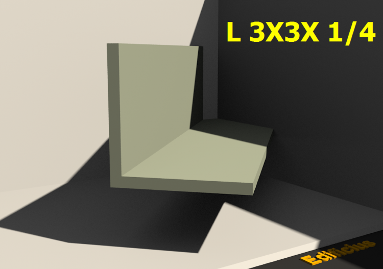 3D Profiles - L 3X3X 1/4 - ACCA software