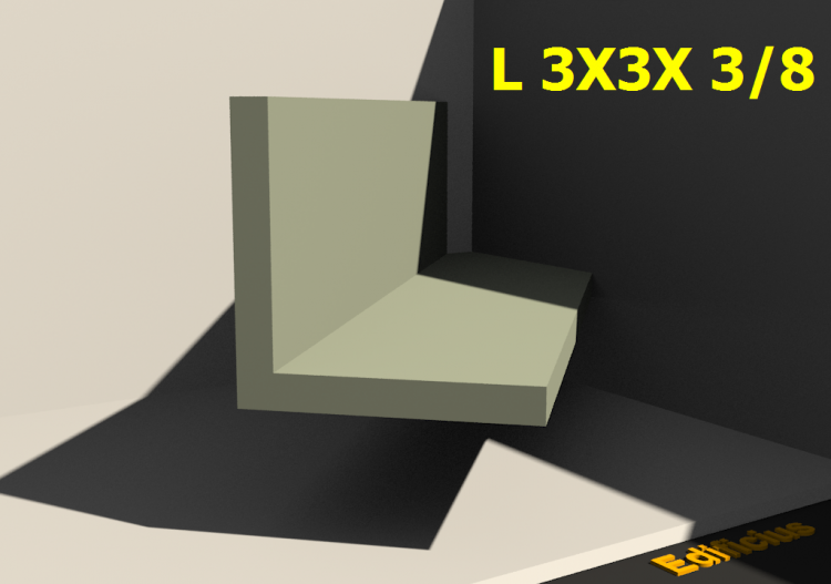 3D Profiles - L 3X3X 3/8 - ACCA software