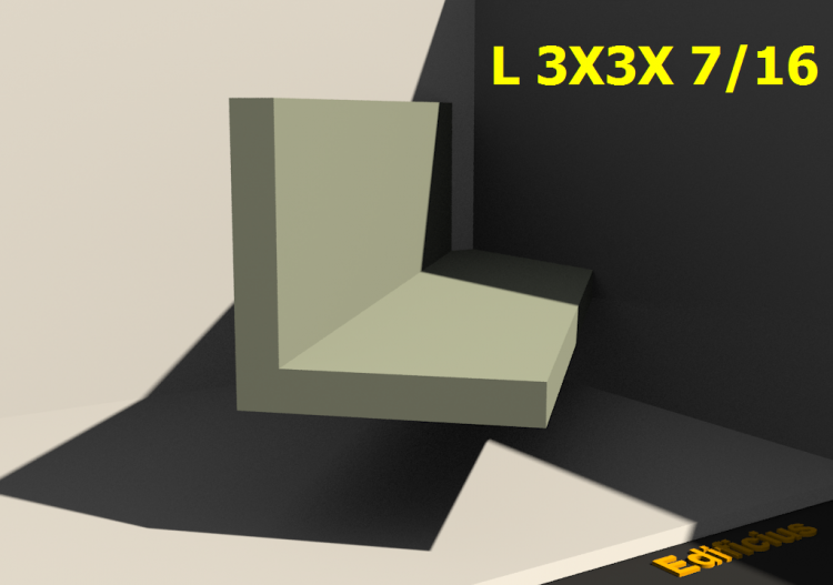 3D Profiles - L 3X3X 7/16 - ACCA software