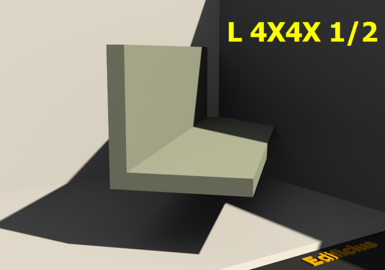 3D Profiles - L 4X4X 1/2 - ACCA software