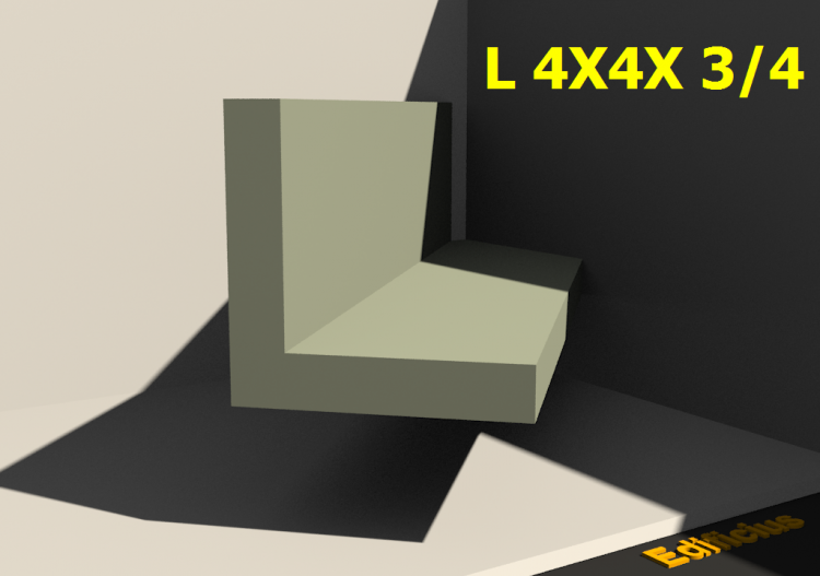 3D Profiles - L 4X4X 3/4 - ACCA software