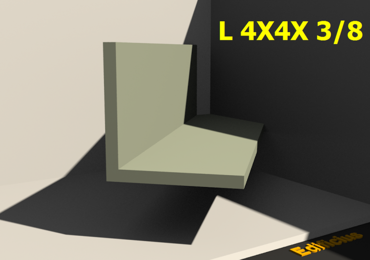 3D Profiles - L 4X4X 3/8 - ACCA software