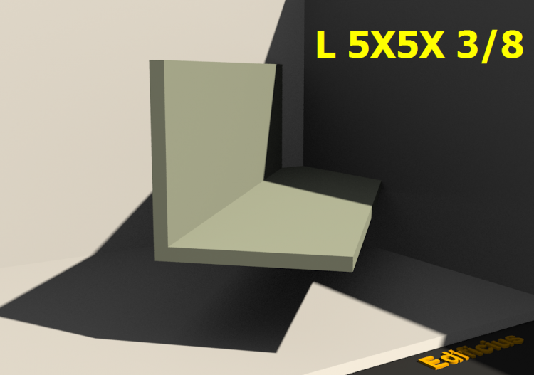 3D Profiles - L 5X5X 3/8 - ACCA software