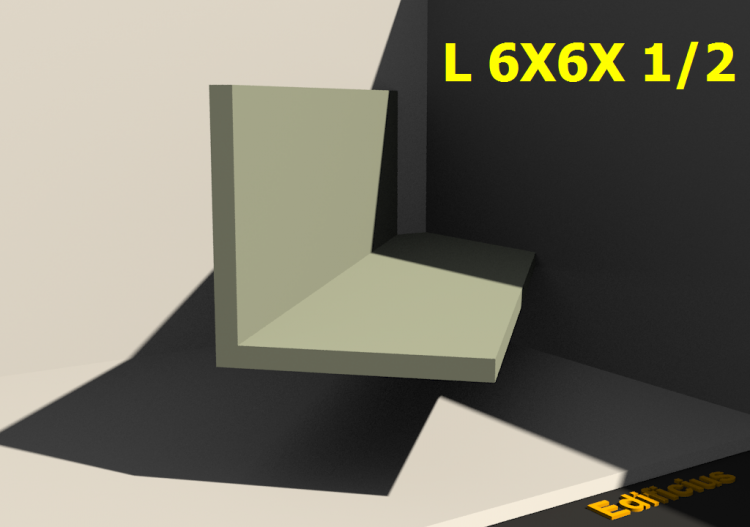 3D Profiles - L 6X6X 1/2 - ACCA software