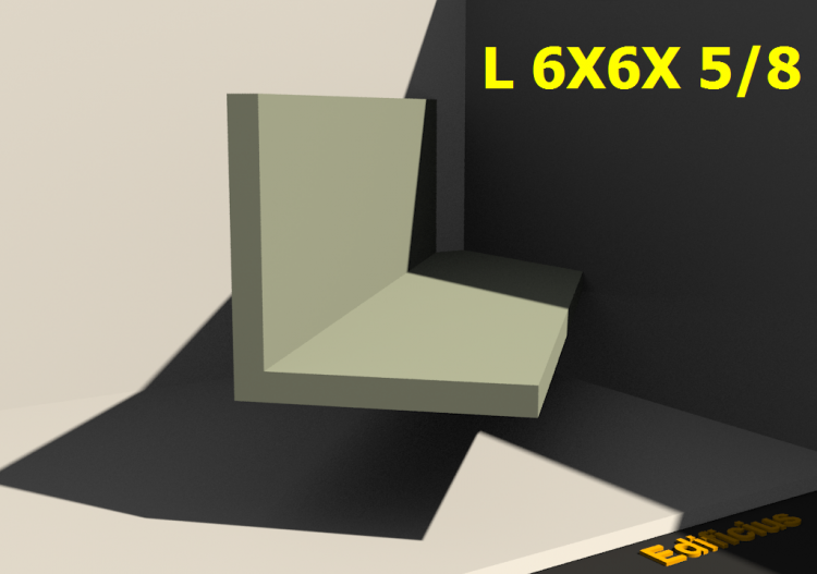 3D Profile - L 6X6X 5/8 - ACCA software