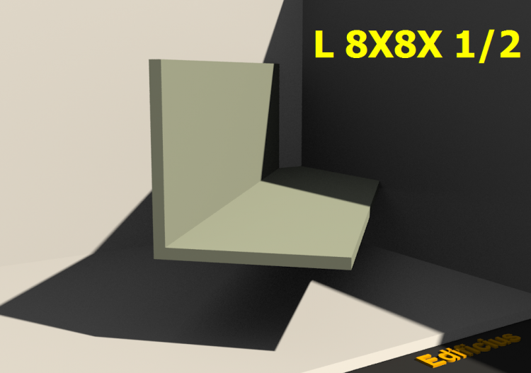 3D Profiles - L 8X8X 1/2 - ACCA software