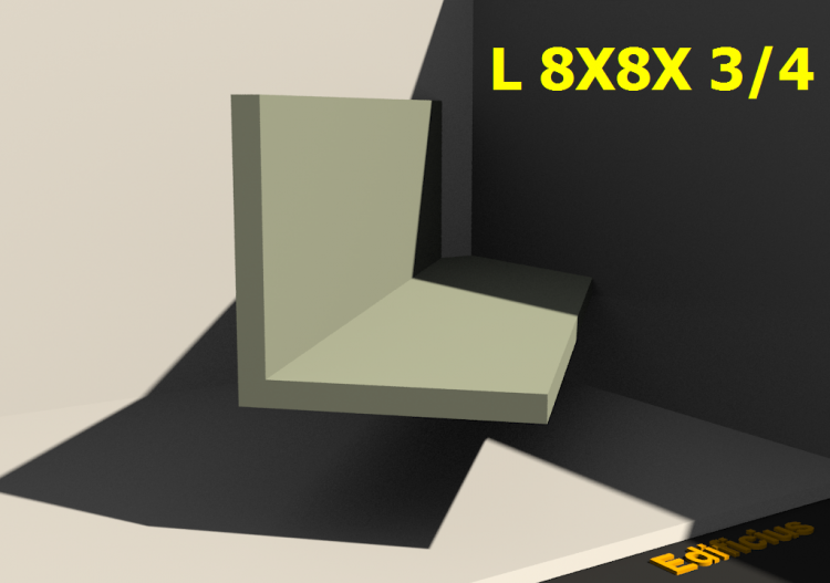 3D Profiles - L 8X8X 3/4 - ACCA software