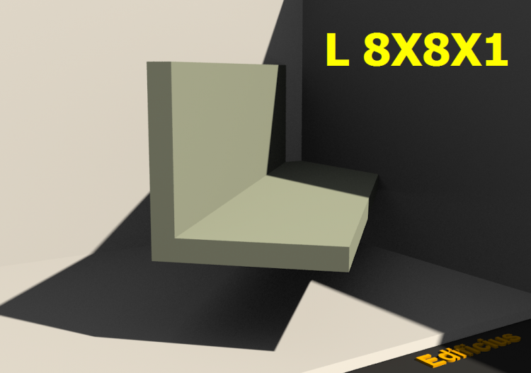 3D Profiles - L 8X8X1 - ACCA software