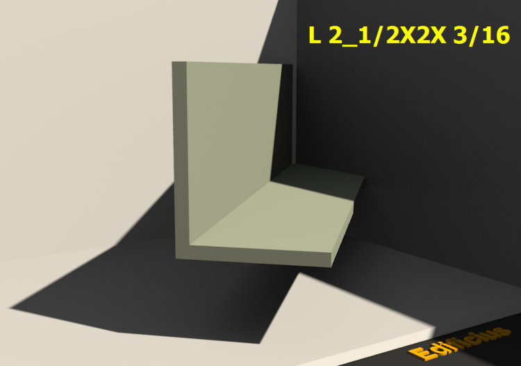 3D Profiles - L 2_1/2X2X 3/16 - ACCA software