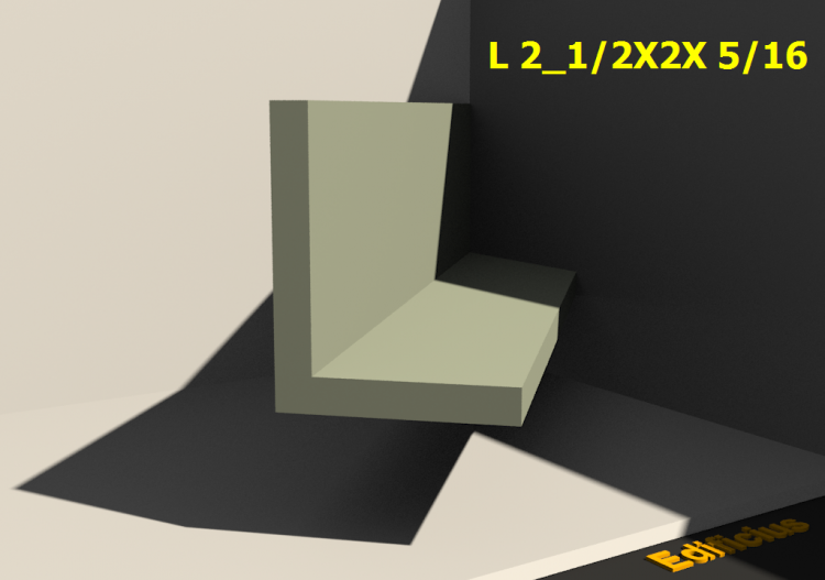 3D Profile - L 2_1/2X2X 5/16 - ACCA software
