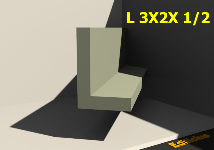 3D Profiles - L 3X2X 1/2 - ACCA software