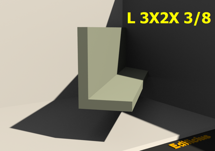3D Profiles - L 3X2X 3/8 - ACCA software