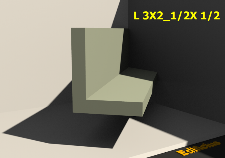 3D Profiles - L 3X2_1/2X 1/2 - ACCA software