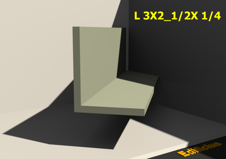 3D Profiles - L 3X2_1/2X 1/4 - ACCA software