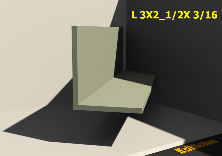 3D Profiles - L 3X2_1/2X 3/16 - ACCA software