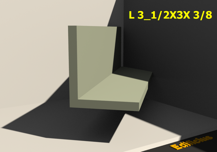 3D Profile - L 3_1/2X3X 3/8 - ACCA software