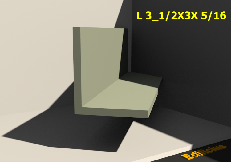 3D Profiles - L 3_1/2X3X 5/16 - ACCA software