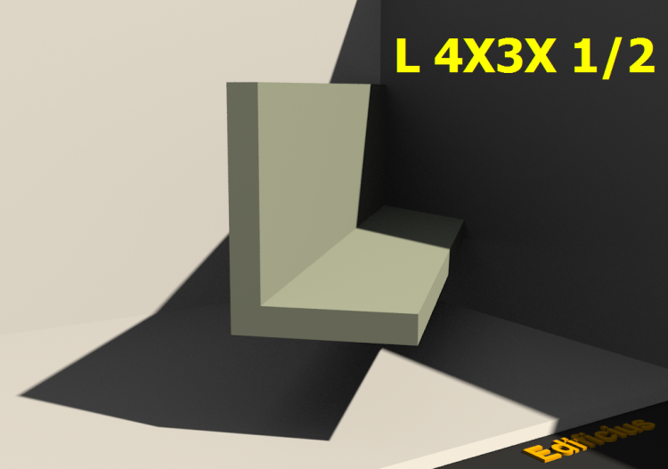 3D Profile - L 4X3X 1/2 - ACCA software