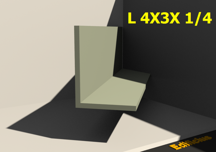 3D Profiles - L 4X3X 1/4 - ACCA software