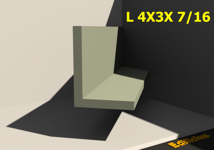 3D Profiles - L 4X3X 7/16 - ACCA software