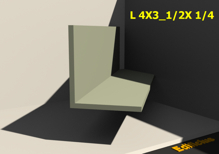 3D Profile - L 4X3_1/2X 1/4 - ACCA software