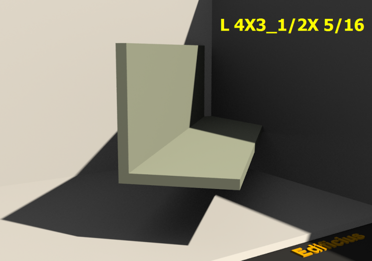 3D Profiles - L 4X3_1/2X 5/16 - ACCA software